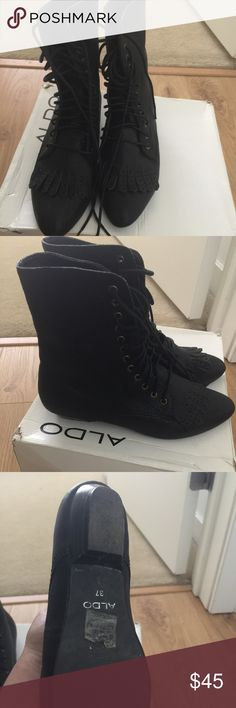 Aldo's lace up boots Size 6.5 .. good condition Shoes Lace Up Boots