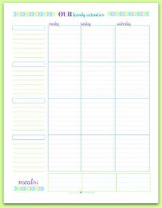 blank printable weekly calendar
