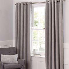 Boucle Dove Grey Blackout Curtains   Dunelm