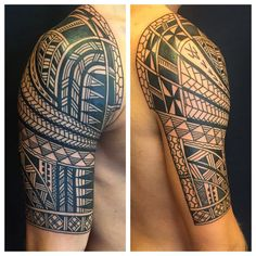 """432 Likes, 14 Comments - Higgins And Co Tattoo (@higginsandco) on Instagram: """"Today @sevenseas_tattoos on Roel , first tattoo one hit , thank you  #polynesian #polynesiantattoo…"""""""