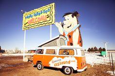 VW & Flintstone picture..cool!