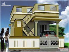house elevations   house designs tamilnadu   Pinterest