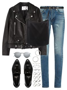 """""""Untitled #1801"""" by breannaflorence on Polyvore featuring Yves Saint Laurent, River Island, ASOS, Vita Fede, Bling Jewelry, Cartier, Acne Studios, Ray-Ban and Sophie Buhai"""