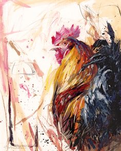 Inspiration for sketch a day chellenge day 54 ~ Chicken. James Bartholomew RSMA