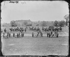 Ringgold Battery on drill, deployed in a fighting formation, by Mathew Brady