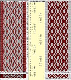 26 tarjetas, 2 colores, secuencia 6F-6B // sed_486 diseñado en GTT༺❁
