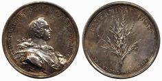 Sweden, Adolf Fredrik Medalj i försilvrad legering, Hedlinger 1743, Hildebrand nr 3 01  Dealer AB Philea  Auction Starting Price: 700.00SEK...