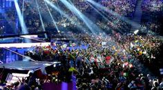 WarmUp Phase vor einer Live Show des 59. Eurovision Song Contest 2014 (B+W Hallerne, Kopenhagen).