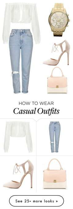 """""""Casual"""" by valentinalardies on Polyvore featuring Topshop, Elizabeth and James, MICHAEL Michael Kors and Charlotte Russe"""