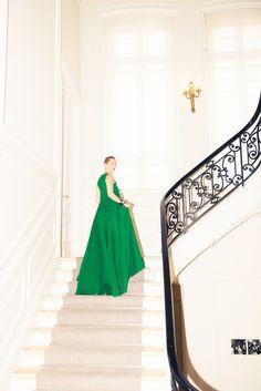 Stairway to (Dior) heaven. http://www.thecoveteur.com/lucie-de-la-falaise/