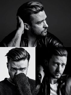 Justin Timberlake hairstyle shot by Hedi Slimane for New York Times T Magazine