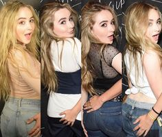 I have been giving my dick hell to the pics Sabrina Carpenter has been taking with fans.