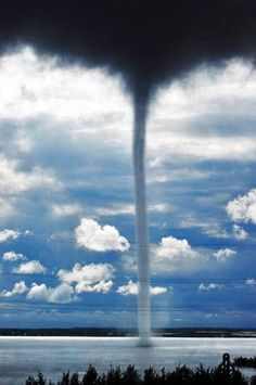 Waterspout  An intense columnar vortex over a body of water.