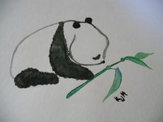 My panda!! (: with water color paint.    ...BTW,Please Check this out:  http://artcaffeine.imobileappsys.com