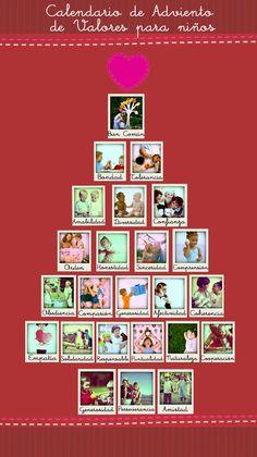 Calendario de Adviento de valores para los niños