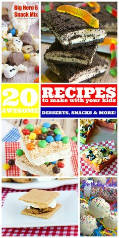 20 Awesome Recipe to make with your Kids!