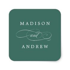 Beloved | Personalized Wedding Stickers - monogram gifts unique design style monogrammed diy cyo customize