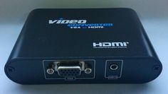 New 3.5mm Audio VGA to HDMI, Laptop PC to HDMI 1080P Video Converter With Scaler