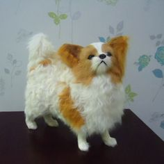 Stuffed Plush Papillon Dog Puppy Toy  This would be funny to bring home and watch the dogs freak out..