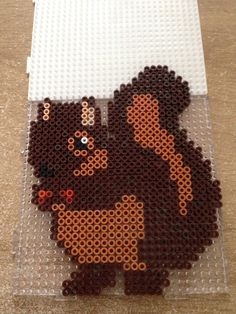 Squirrel hama beads by Marye