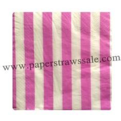Paper Napkins Hot Pink Striped http://www.paperstrawssale.com/paper-napkins-hot-pink-striped-300pcs-p-766.html