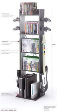 New Tower Video Game Stand Storage Rack Xbox PS3 Controller Console Media Holder