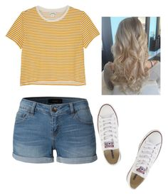 """""""Untitled #682"""" by hdflynn ❤ liked on Polyvore featuring Monki, LE3NO and Converse"""