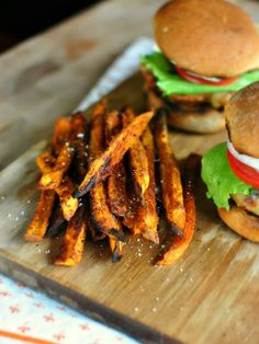 Spicy Baked Sweet Potato Fries   the secret to making the crispiest baked fries!
