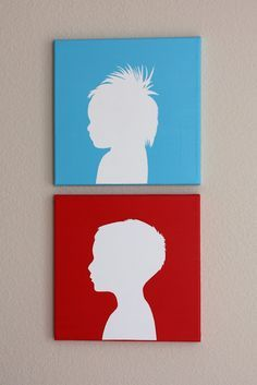 Tutorial on how to make your own canvas silhouettes... christina williams: Canvas Silhouette