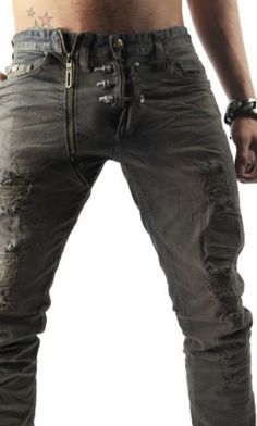 Stone Washed Jeans Screwballer by Kingz.Featuring faded antique wash denim with triple metal screws on fly. | www.differio.com
