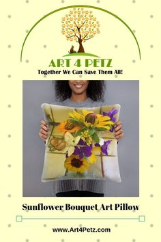 Home - Art 4 Petz - Unique Goods for a Cause from Art & Photos Dog Lover Gifts, Dog Lovers, Sunflower Bouquets, Floral Pillows, Together We Can, Home Art, Original Art, Dog Products, Unique