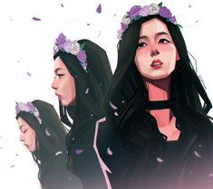 "Chalseu on Twitter: ""Our flower, Jisoo ♥. #chalseu #blackpink #jisoo #fanart https://t.co/Vgk7nqITBi"""