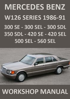 Mercedes Benz S Class Factory Workshop Manual for the models Easy, step by step instruction. This is an extremely detailed workshop manual covering every aspect of the car over 2000 pages. Mercedes Benz W126, Mercedes Benz Canada, M Benz, Mercedes 300, Mercedes Benz Trucks, Mercedes Benz G Class, Benz S Class, Electrical Troubleshooting, Windshield Glass