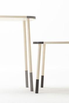 stone-edge_table / 石で補強された木製テーブル for Caesarstone