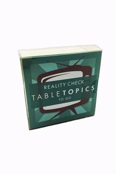 Travel size conversation cards about television. These light and lively conversation topics will fill your party with great conversation and loads of laughs! Table Topics by Modern History Collection. Home & Gifts - Gifts - Odds & Ends Virginia