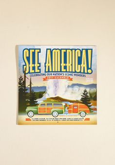 Perfect Land of the See Wall Calendar Mod Retro Vintage Desk Accessories ModCloth