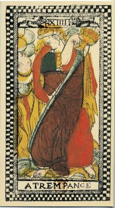 The Tarot de Paris has a Temperance, which fights against fire with only one cup True Tarot, Tarrot Cards, Tarot Cards Major Arcana, Zodiac Elements, Fortune Telling Cards, Tarot Card Decks, Tarot Readers, Oracle Cards, Ancient Aliens