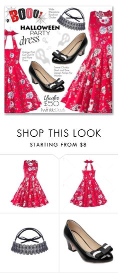 """""""Halloween Party Dress"""" by dressedbyrose ❤ liked on Polyvore featuring vintage"""