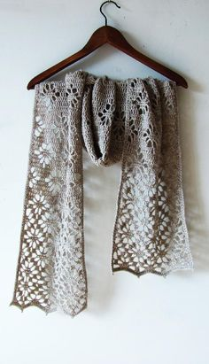 """Long scarf with lacy edges. Finished size 24x190 cm (9.5""""x75""""). Size is easy adjustable. Pattern has written row-by-row instructions and chart.Materials Needed:• 2 skeins of Fingering weight yarn, about 430 yards (390 meters) per 100 grams. You'll need approx. 600 meters (650 yards).• 3 mm hook• tapestry needle and scissors• stitch markers and blocking pinsPattern written in standard US terms and fully tested. Thank you for visiting my shop!"""