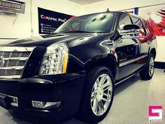 Glossy Ceramic Pro Platinum Package now covers this 2014 Cadillac Escalade. Work by @mrdetail1 | by CeramicPro #ceramicpro #automotive #lifestyle #nanoceramic #paintprotection #nanocoating #paintcoating #ceramiccoating #detailing #cadillac