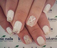 White and glitter patterns. Pretty