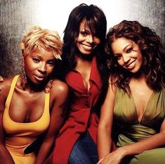 Mary J Blige, Janet Jackson & Beyonce. Janet Jackson, Girl Bands, Black Girls Rock, Black Girl Magic, Destiny's Child, Black Celebrities, Celebs, My Black Is Beautiful, Beautiful Women
