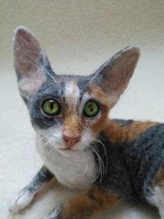 Artist Cat/ Collectible/ Needle Felted/Cutest playful