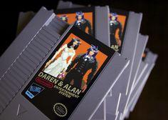 World of Warcraft NES Cartridge wedding Invites by 72 pins