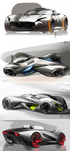 Concept Car Design Sketches by Svyatoslav Konahovski - Cars Car Design Sketch, Car Sketch, Design Cars, Design Transport, Supercars, Industrial Design Sketch, Automobile, Futuristic Cars, Car Drawings