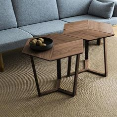 Kant Table - Light Smoked Oak by Collect Furniture(Cool Furniture) Hexagon Coffee Table, Oak Coffee Table, Cool Coffee Tables, Oak Table, Coffee Table Design, Cool Furniture, Furniture Design, Center Table Living Room, Decoration