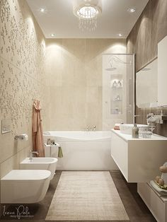 Luxury Bathroom Decor Ideas Completed With Modern and Attractive Design To Apply In It - Badezimmer - Bathroom Cost, Bathroom Remodel Cost, Zen Bathroom, Modern Bathroom, Small Bathroom, Cream Bathroom, Bathroom Wallpaper, Bathroom Cabinets, White Bathroom