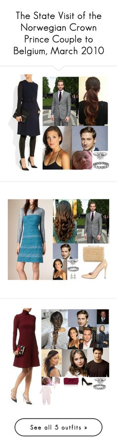 """""""The State Visit of the Norwegian Crown Prince Couple to Belgium, March 2010"""" by hanaofbelgium ❤ liked on Polyvore featuring Burberry, Boucheron, L.K.Bennett, Prada, Coast, Beauty Secrets, Kissy Kissy, Harrods, Laurel Wreath Collection and Harry Winston"""