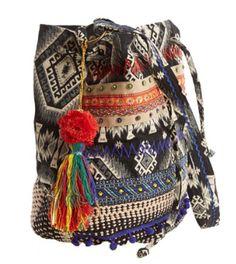 #Bohemian chic bucket bag