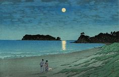 Hasui Kawase. \\ Shichirigahama, 1930